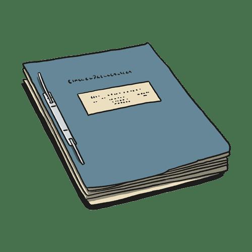 Illustration of Document-folder
