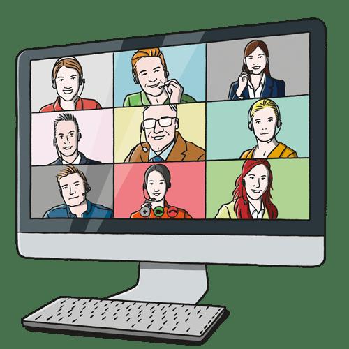 Illustration of Online Lessons