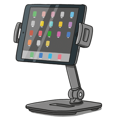 Illustration of iPhone with stand