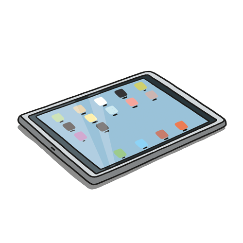 Illustration of Android Tablet