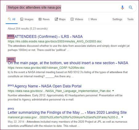 google operator filtetype Corma Investigations